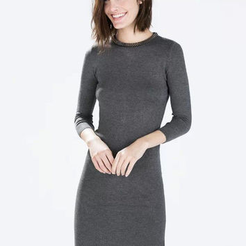 Bodycon Long Sleeve Mini Dress