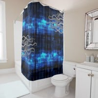 Octopus Tentacles On Blue Ink Sea Shower Curtain