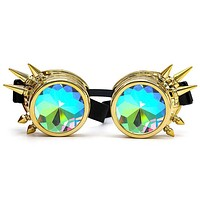 Psychedelic Spiked Kaleidoscope Goggles