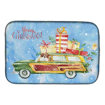 Merry Christmas Beagle Dish Drying Mat CK2442DDM