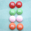 m&m's candy stud earrings
