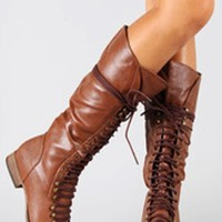 Lola Lace Up Combat Boots