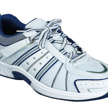 Orthofeet Monterey Bay - White MEN'S ATHLETIC - TIE-LESS LACE Diabetic Shoe