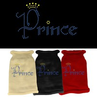 Rhinestone Knit Pet Sweater: Prince