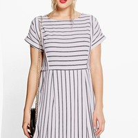 Coraline Striped Smock Dress