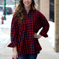 Oversized Flannel Top