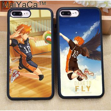 MaiYaCa Anime Haikyuu Hinata Soft TPU Skin Mobile Phone Cases For Coque iPhone 7 7 Plus 6 6S Plus 5 5S 5C SE 4S Back Cover Shell