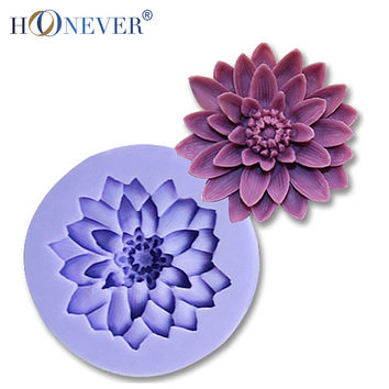 Daisy Silicone Mold Round Flower Chocolate Fondant Tools Cake Mould Soap Mold