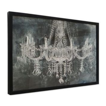 Exceptionnel Silver And Black Chandelier Wall Art With Black Frame