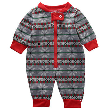Christmas Kids Baby Boys Girls Rompers Family Matching Pajamas Cute Xmas Clothing Nightwear Pyjamas