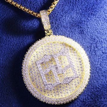 Men's Hip Hop Rapper 69 Circle Spinner Pendant Chain