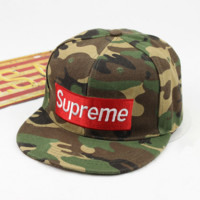 New fashion supreme camouflage hat couple baseball hat male and female hat