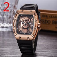 Richard miller RM052 Fashionable and trendy watch F-PS-XSDZBSH Black wristband + gold case + gold dial