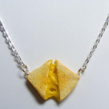 Grilled Cheese Necklace Miniature Food Pendant  by NeatEats