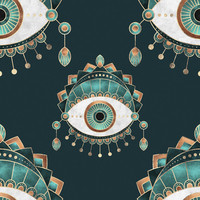 Teal Eye Removable Wallpaper