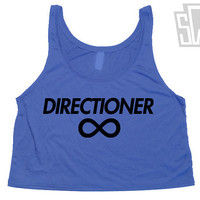 "One Direction ""Directioner"" Cut Off Flowy Tank Top - 1D Summer Trends, Harry Styles, Niall Horan, Zayn Malik, Louis Tomlinson 011"