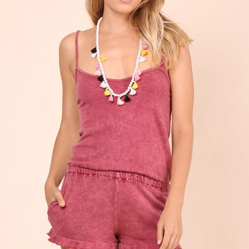 Gab & Kate Sunkiss Romper - Berry