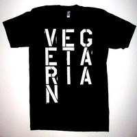 VEGETARIAN S, M, L, XL  T SHIRT vegan animal rights