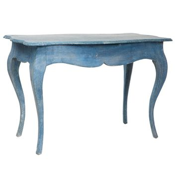 Aidan Gray Furniture Levi Swedish Blue Accent Table