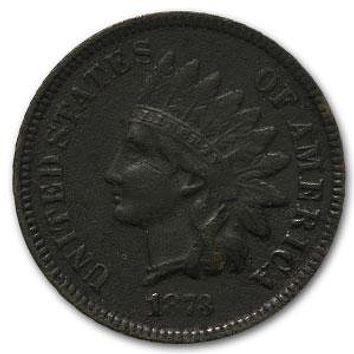 1873 Indian Head Cent Open 3 XF Details