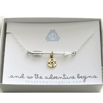 Arrow and Compass Necklace