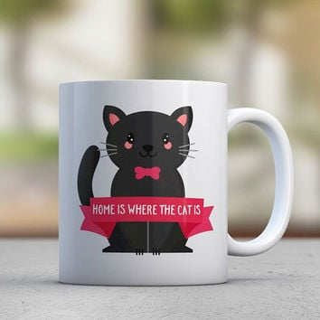 Cat Lover Gift - Funny Cat Mug - Cat Lady - Kitty Mug - Pink - Black Cat - Cute Cat - Sister Gift - Girlfriend Gift