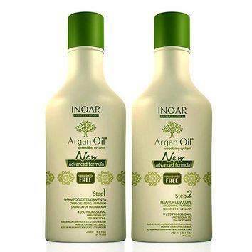 INOAR ARGAN OIL SYSTEM BRAZILIAN KERATIN HAIR TREATMENT 250ml