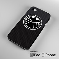 S.H.I.E.L.D. Agent Black A0054 iPhone 4S 5S 5C 6 6Plus, iPod 4 5, LG G2 G3, Sony Z2 Case