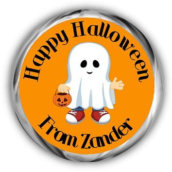 Ghost Personalized Halloween Hershey Kisses Stickers