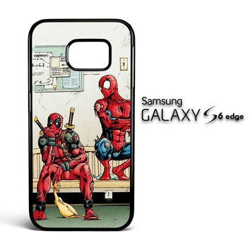 Funny Spiderman and Deadpool Samsung Galaxy S6 Edge Case