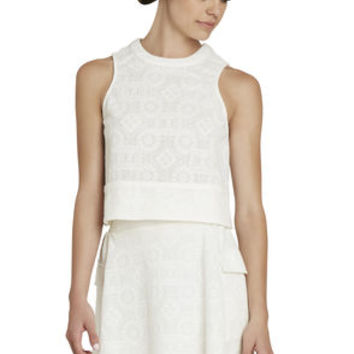 Racer Blocked Top in White/Yellow - BCBGeneration