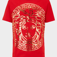 Versace Medusa Head embossed t-shirt for Men | US Online Store