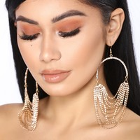 Chained In Love Earrings - Gold