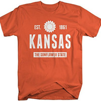 Shirts By Sarah Men's Kansas State Nickname Shirt The Sunflower State T-Shirts Est. 1861