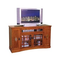 Sunny Designs Mission Oak Counter Height TV Console In Mission Cherry
