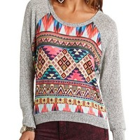 Aztec Panel Hacci Sweater: Charlotte Russe