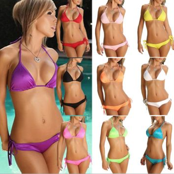 Swimsuit Swimwear Bikini panties underwear women Summer Sexy Swimsuit Neoprene Bikini Push Up Bathsuit