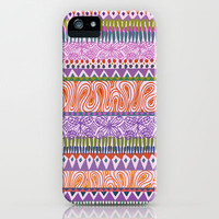 Butterfly Stripe iPhone Case by Janet Broxon