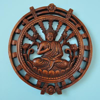 Circle buddha wall decoration