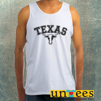Texas Longhorn Logo Clothing Tank Top For Mens