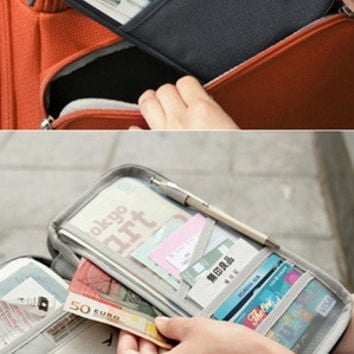 Hot Sale Fashion Approx 5.01inx9.8inx0.8in   Above Knee  Mini Straight Silhouette  Women Casual Wallets Solid Color Travel Passport ID Card Clutch Wallets Key Hand Zipper Case Bags Pouch Wallet Blue/Green/Pink/Fuchsia/Nvay/Burgundy Colors YHF-0024