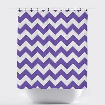 Light Purple Chevron Shower Curtain