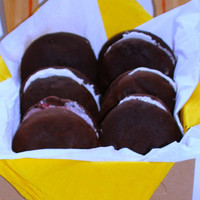 Vegan Chocolate Whoopee Pies With Vanilla Creme Middles Perfect Birthday Gift or Comfort Food