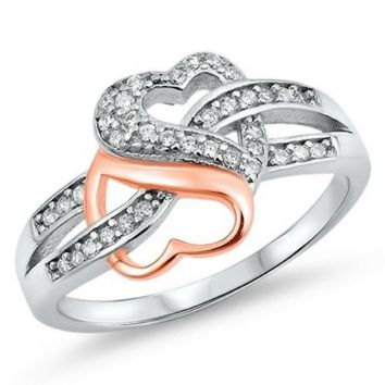 Sterling Silver Heart Infinity Promise Ring