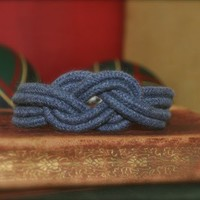 Anchor Knot Rope Bracelet in Navy | dianewdesigns - Jewelry on ArtFire