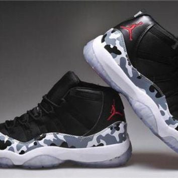 Cheap Air Jordan 11 Retro Men Shoes Camouflage Shoes Grey Hot Sale