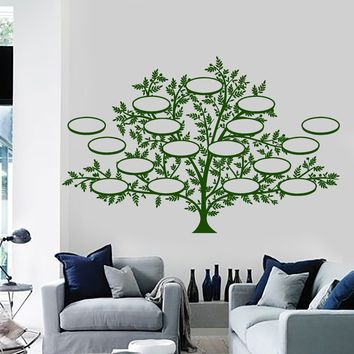 Wall Vinyl Family Tree Custom Pictures Guaranteed Quality Decor Unique Gift z3907