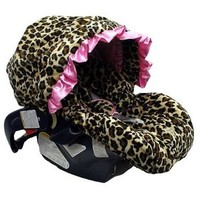 Baby Bella Maya Pink Leopard Infant Car Seat Cover