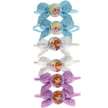 Frozen Glitter Bow Hair Ties