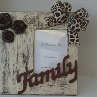 Decorative Frame Roses and Giraffe Theme Brown by TheDecorativeBox